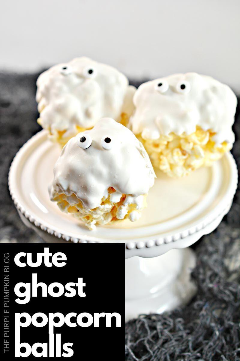 Cute Ghost Popcorn Balls