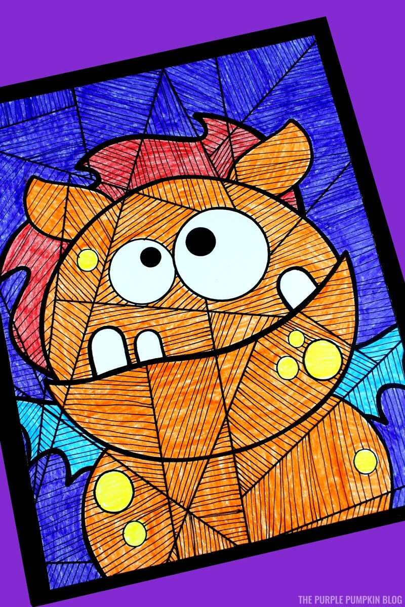 Cute Monster Colouring Page