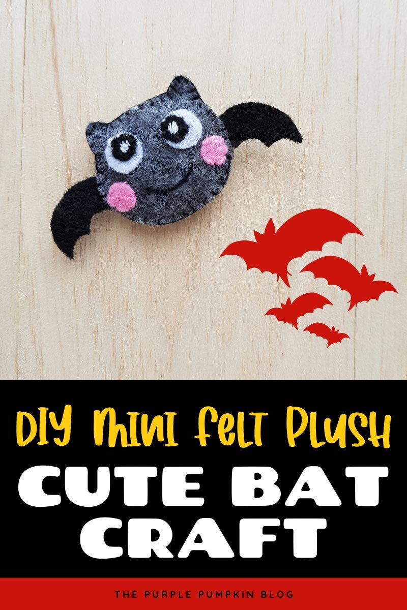 DIY Mini Felt Plush - Cute Bat Craft
