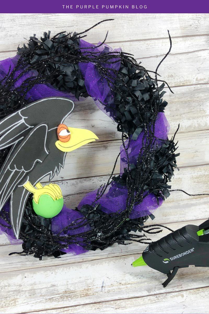 Diablo Raven Halloween Wreath Craft