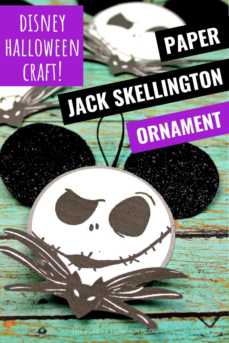 Disney Halloween Craft - Paper Jack Skellington Ornament