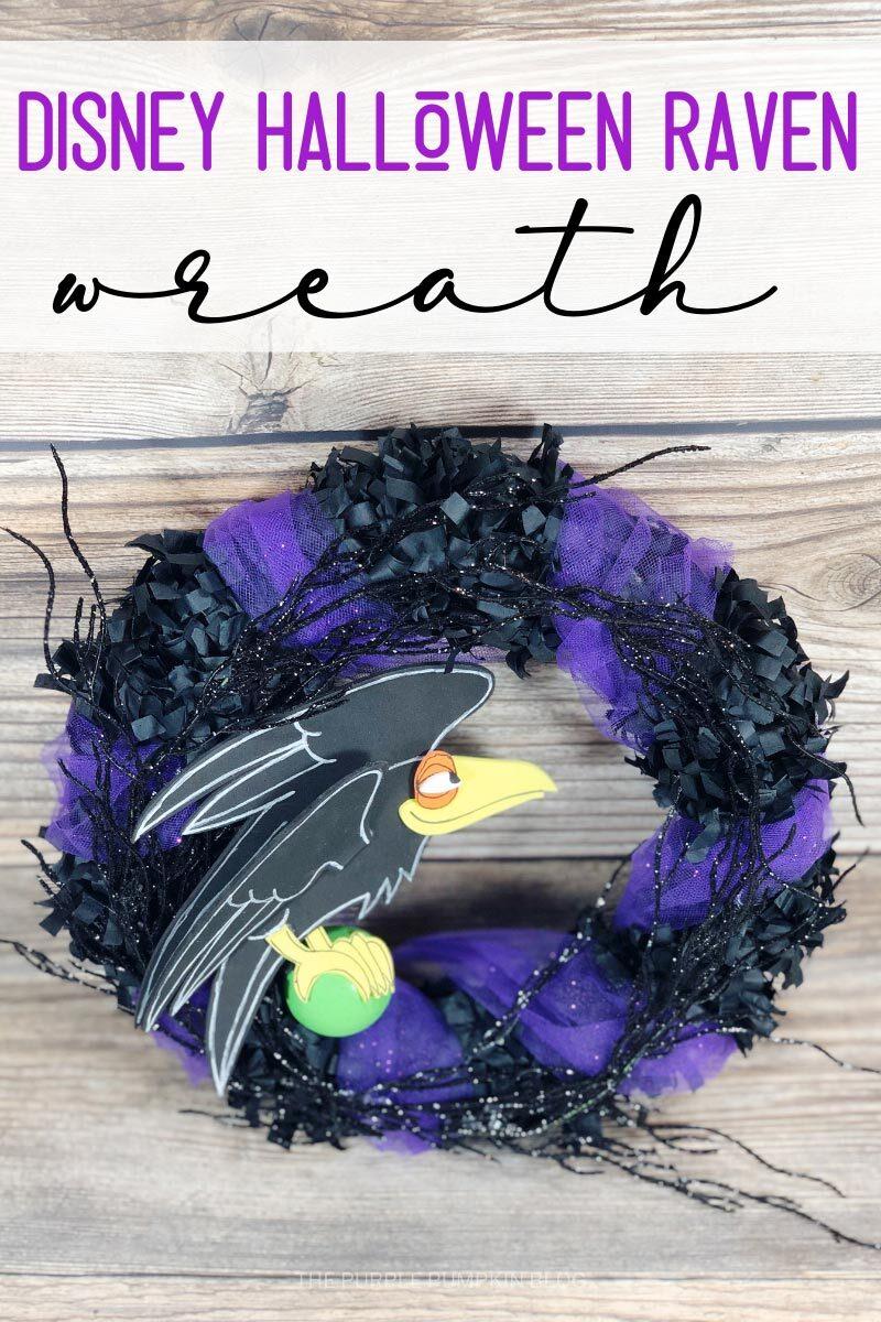 Disney Halloween Raven Wreath