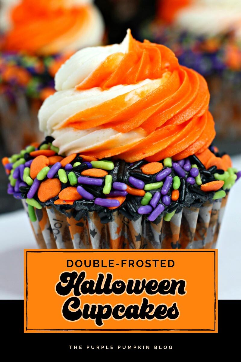 Doubled Frosted Halloween Cupcakes