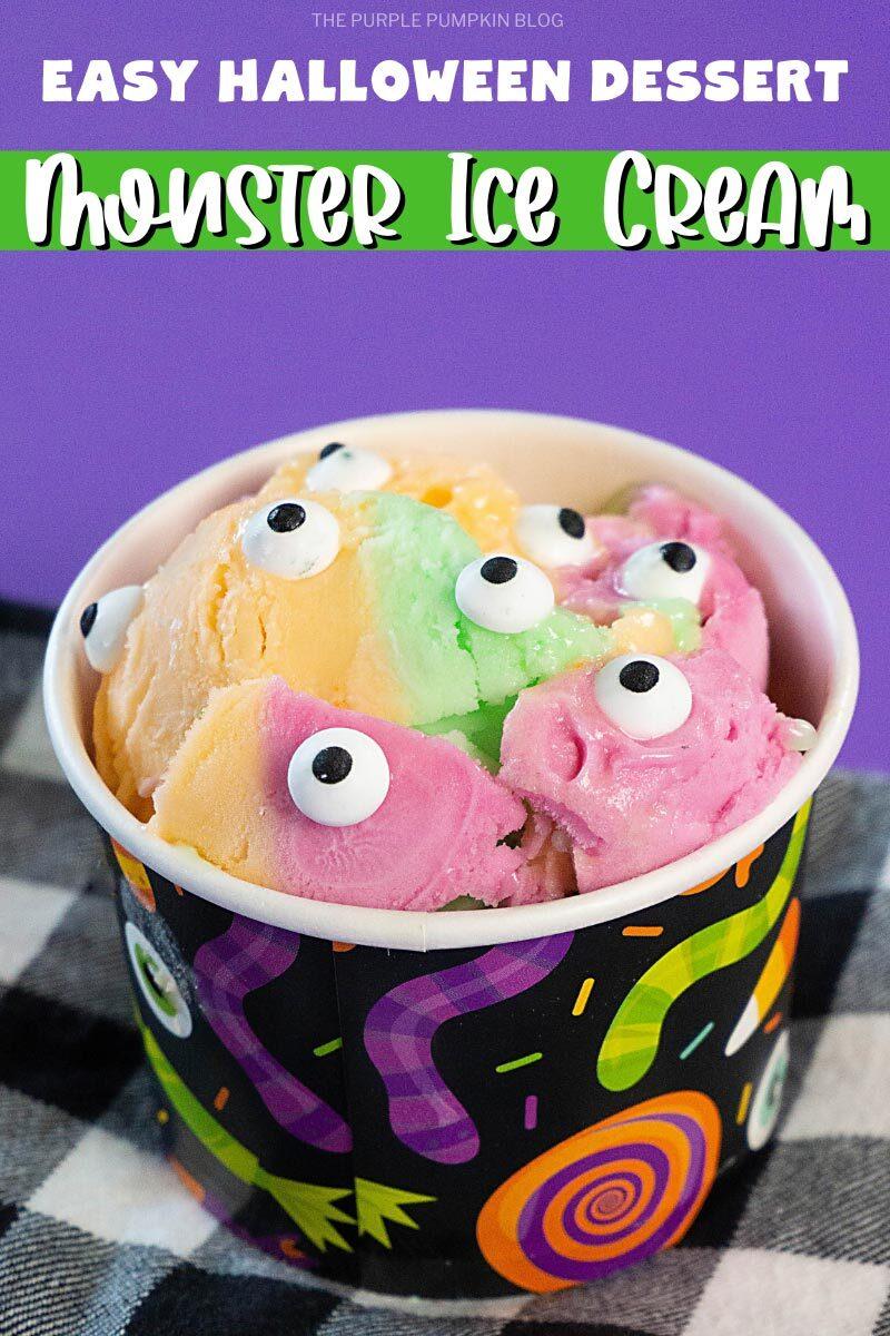 Easy Halloween Dessert - Monster Ice Cream