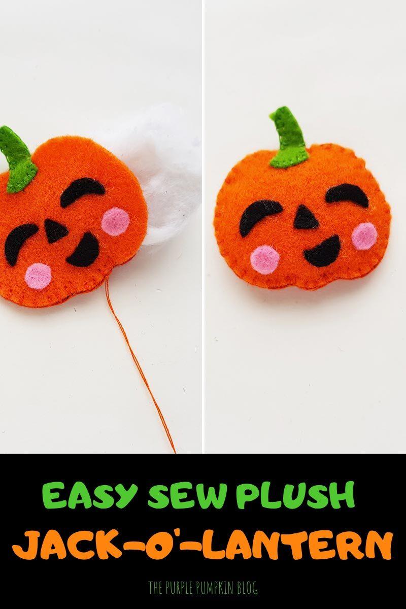 Easy Sew Plush Jack-o'-Lantern