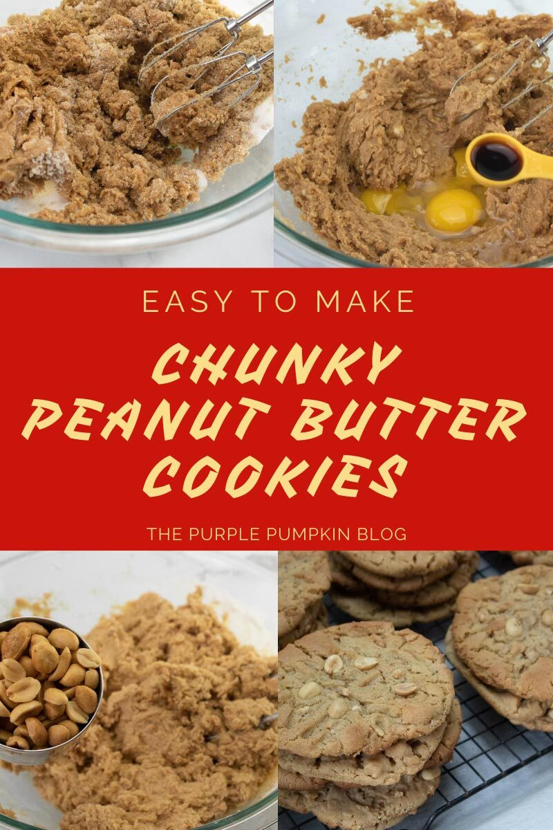 Easy to Make Chunk Peanut Butter Cookies
