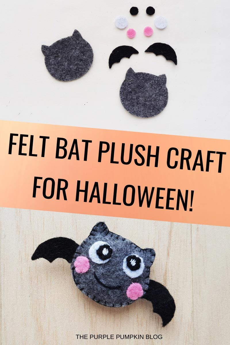 Felt Bat Plush Craft for Halloween