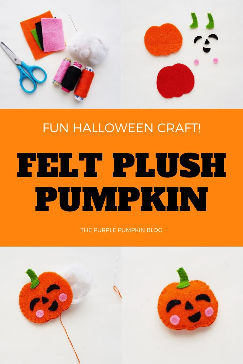 Felt Plush Pumpkin Craft