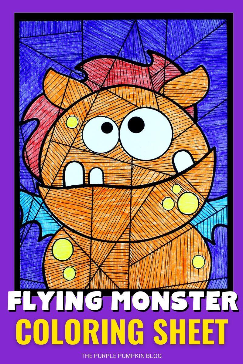 Flying Monster Coloring Sheet