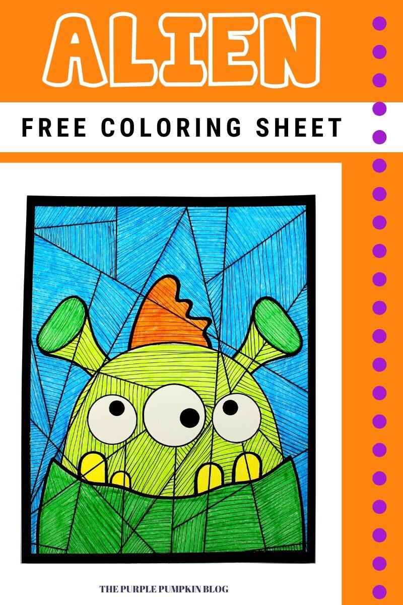 Free Alien Coloring Sheet