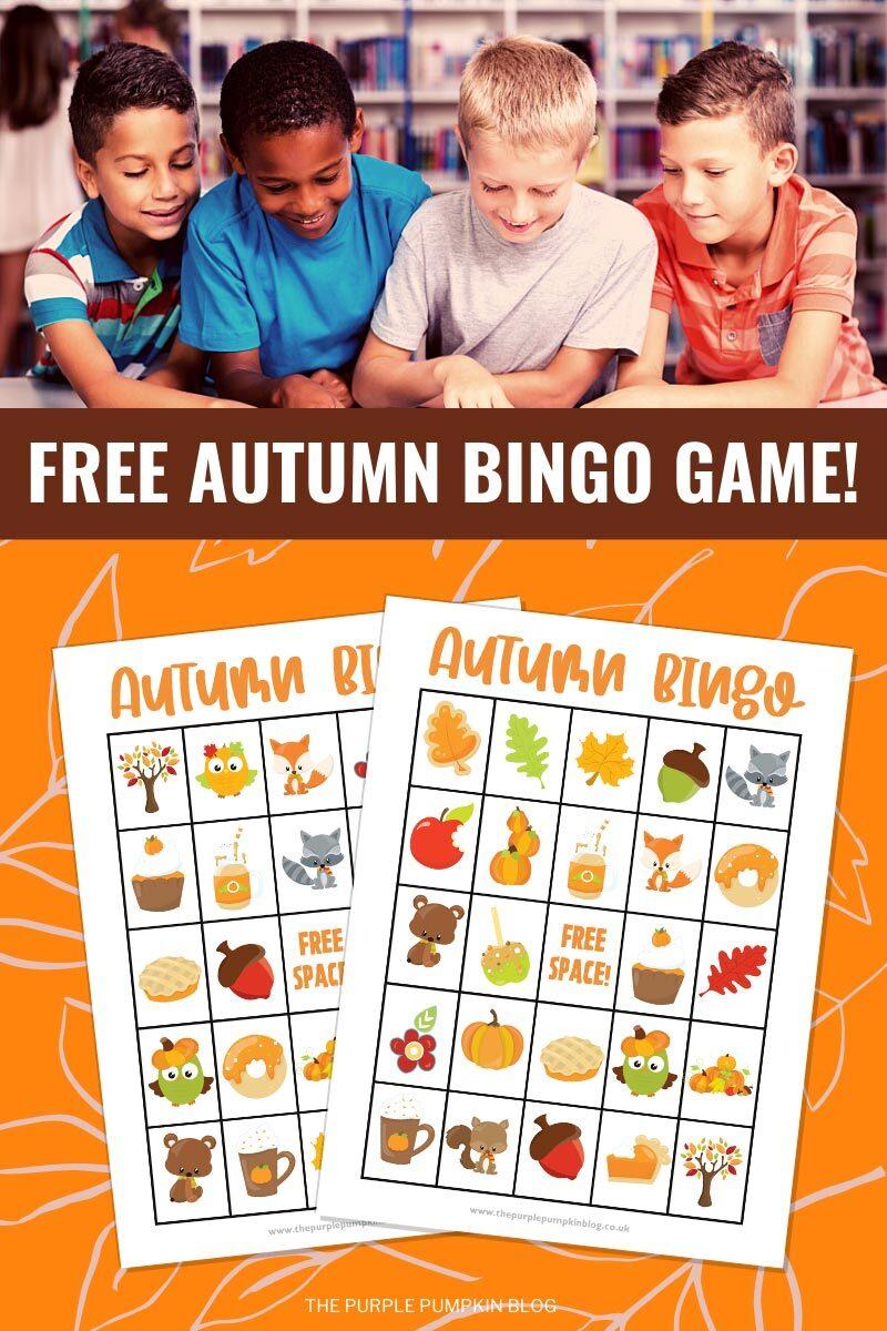 Free Autumn Bingo Game