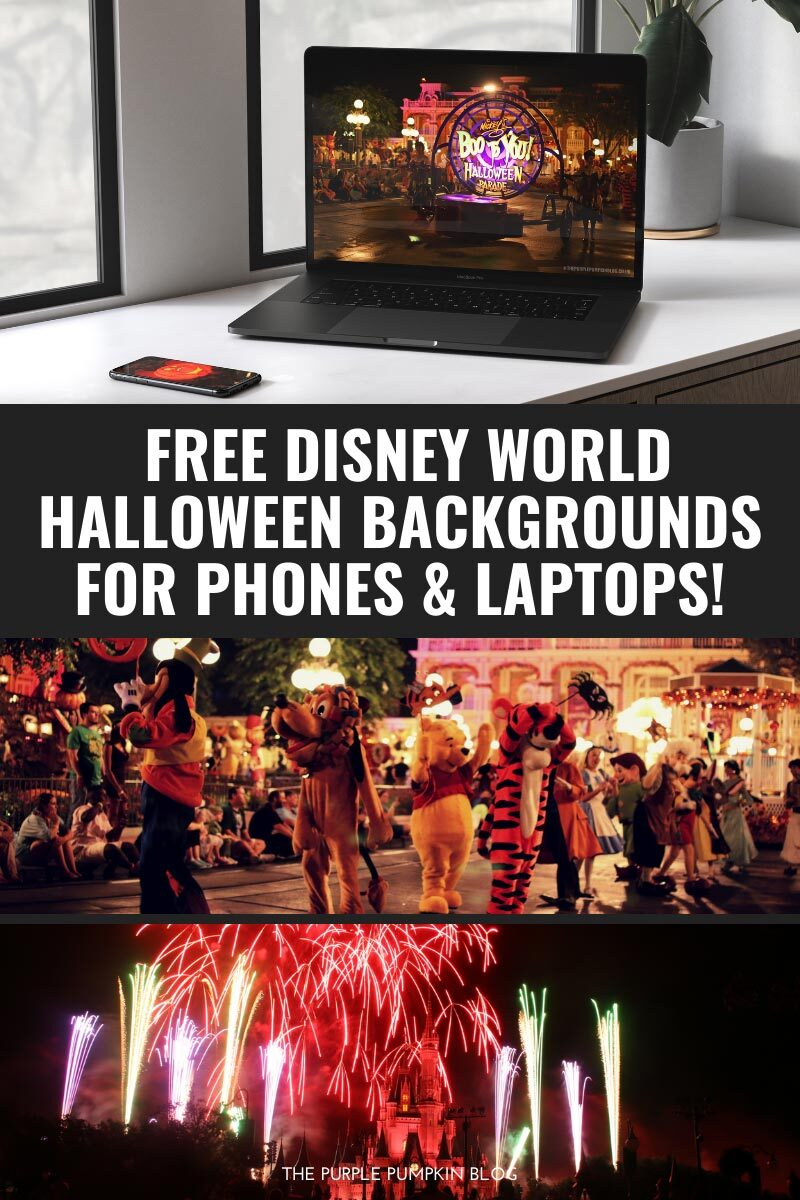 Free Disney World Halloween Backgrounds for Phones & Laptops