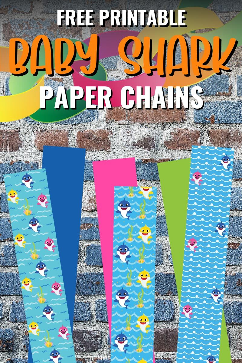 Free Printable Baby Shark Paper Chains