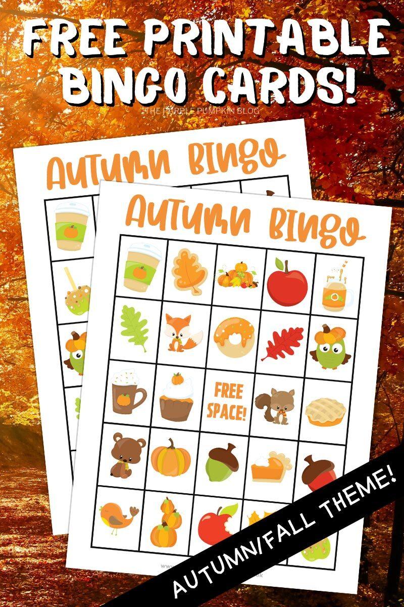 Free Printable Bingo Cards - Autumn Fall Theme