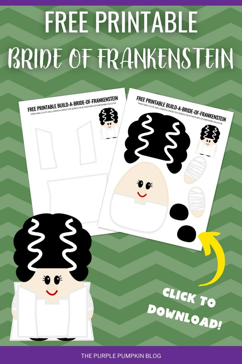 Free Printable Bride of Frankenstein