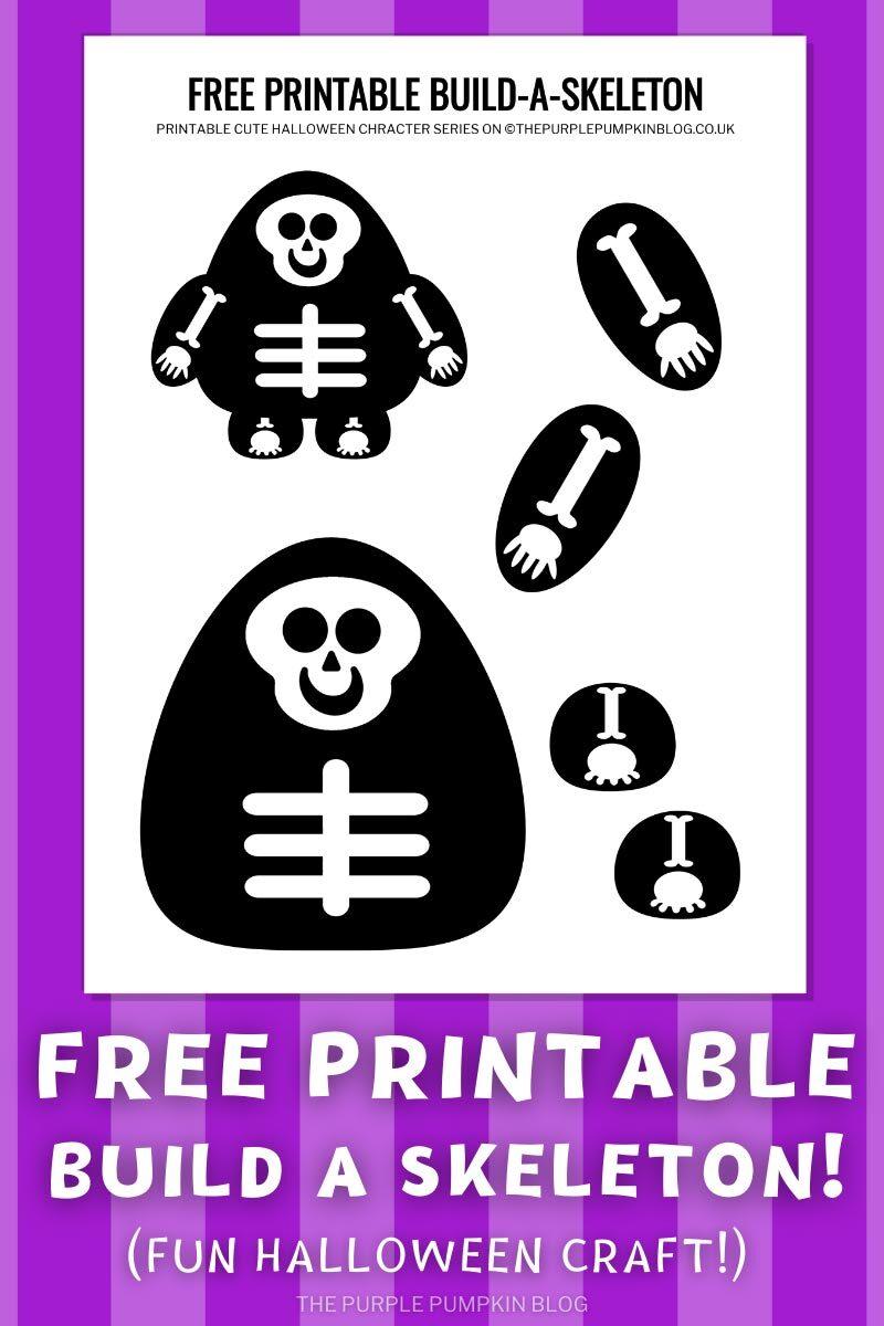 Free Printable Build a Skeleton Halloween Craft