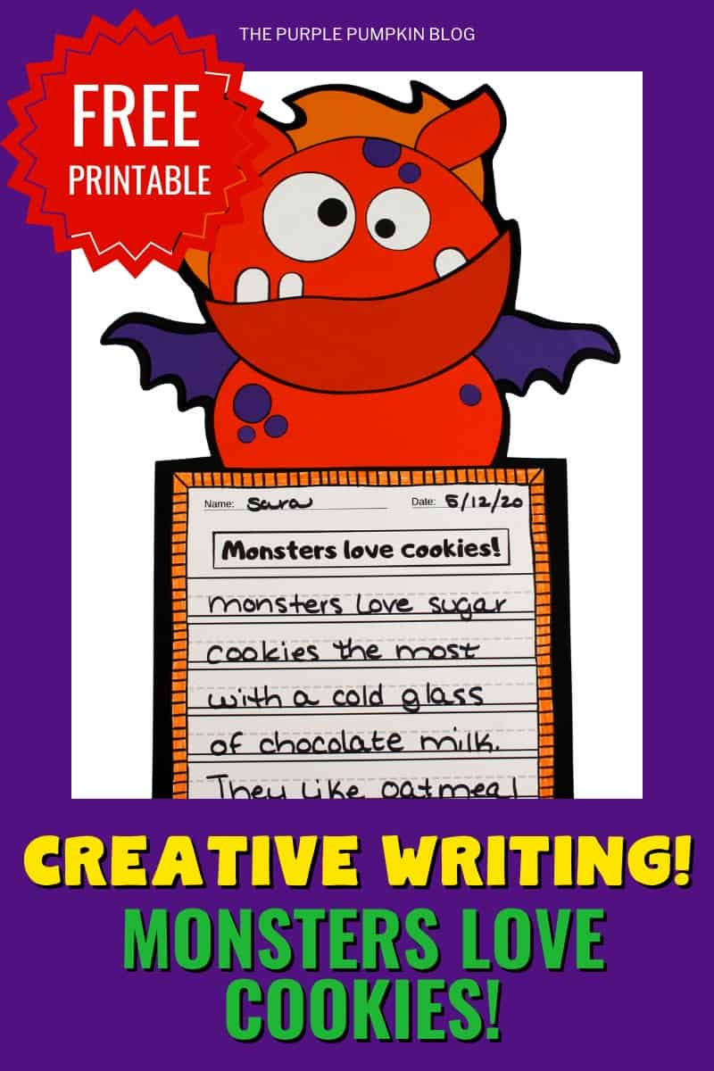 Free-Printable-Creative-Writing-Monsters-Love-Cookies