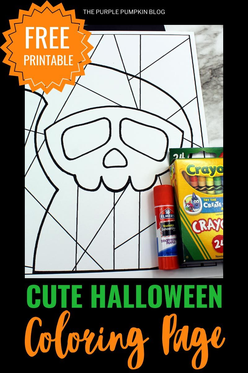 Free Printable Cute Halloween Coloring Page - Grim Reaper