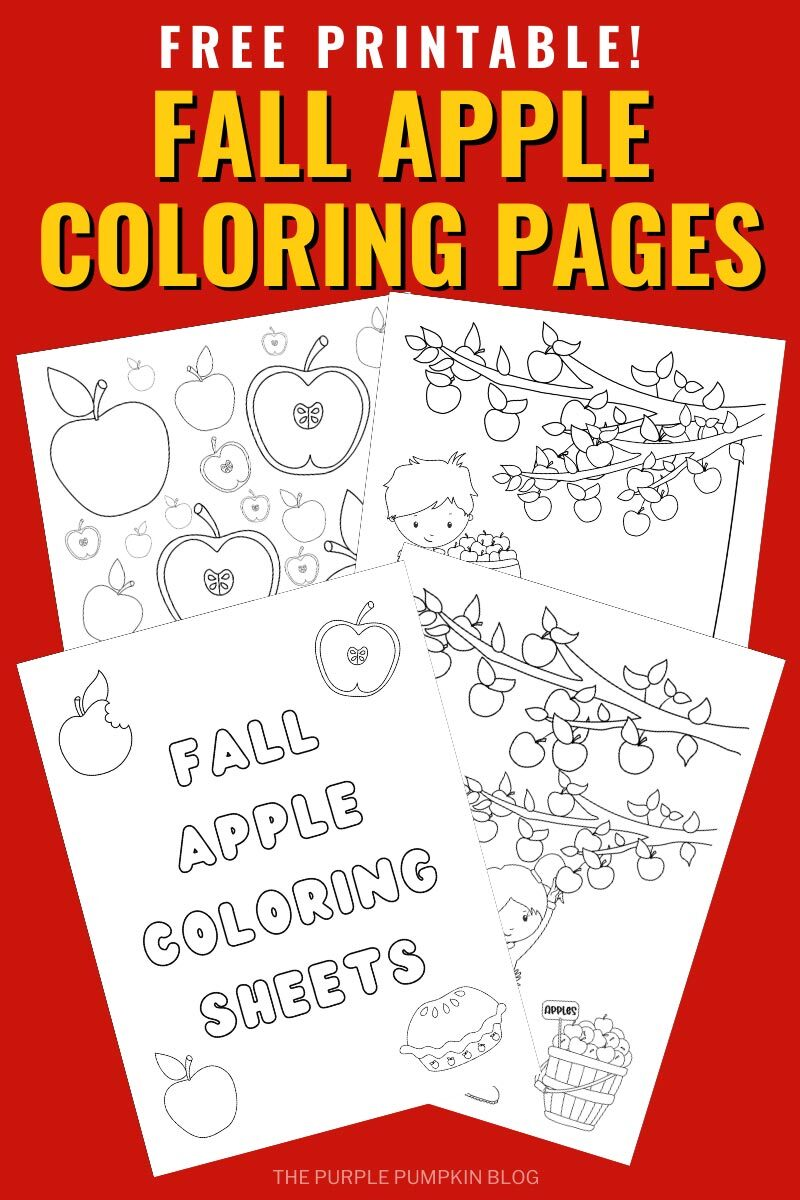 Free Printable Fall Apple Coloring Pages