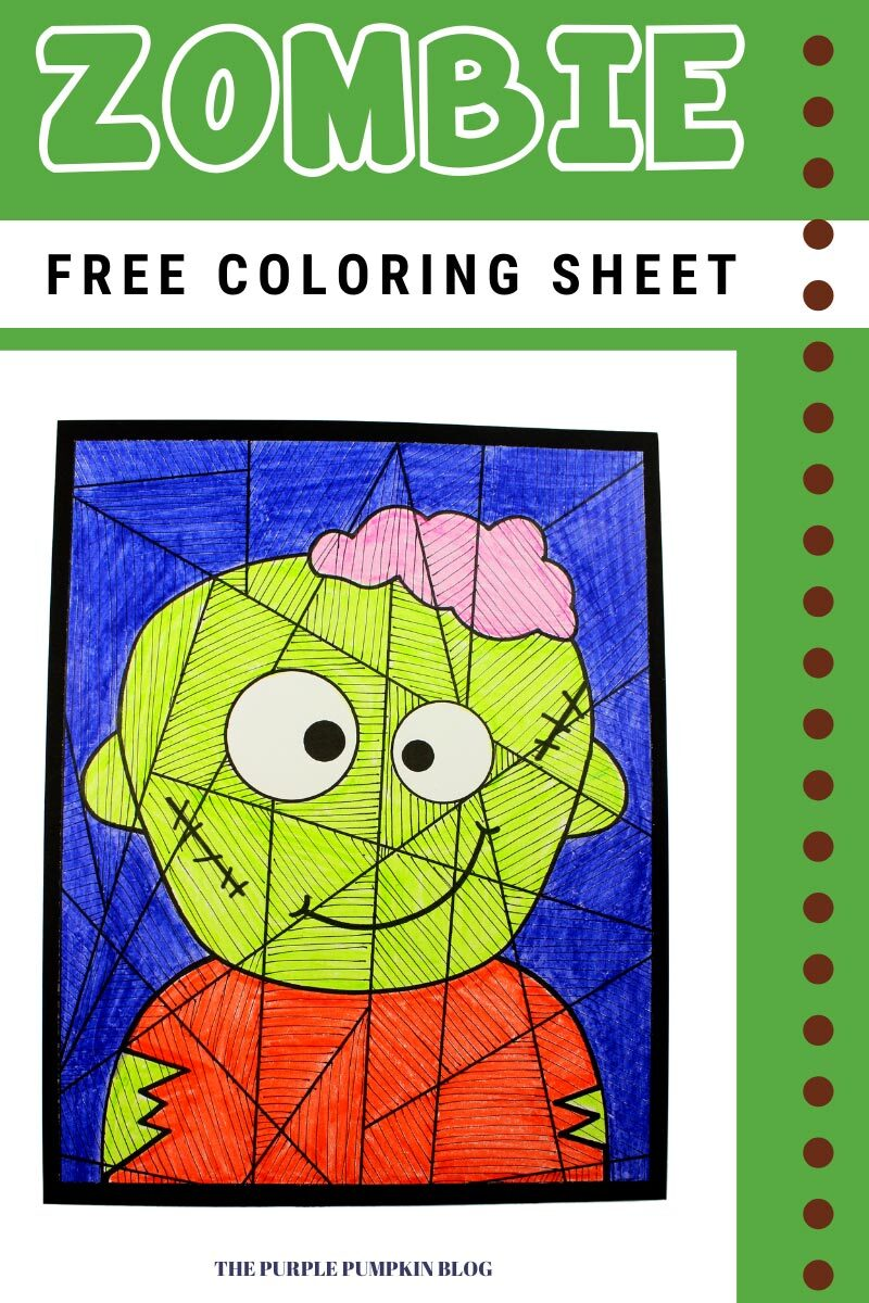 Free Zombie Coloring Sheet