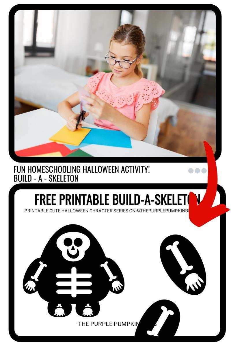 Fun Homeschooling Halloween Activity - Build a Skeleton