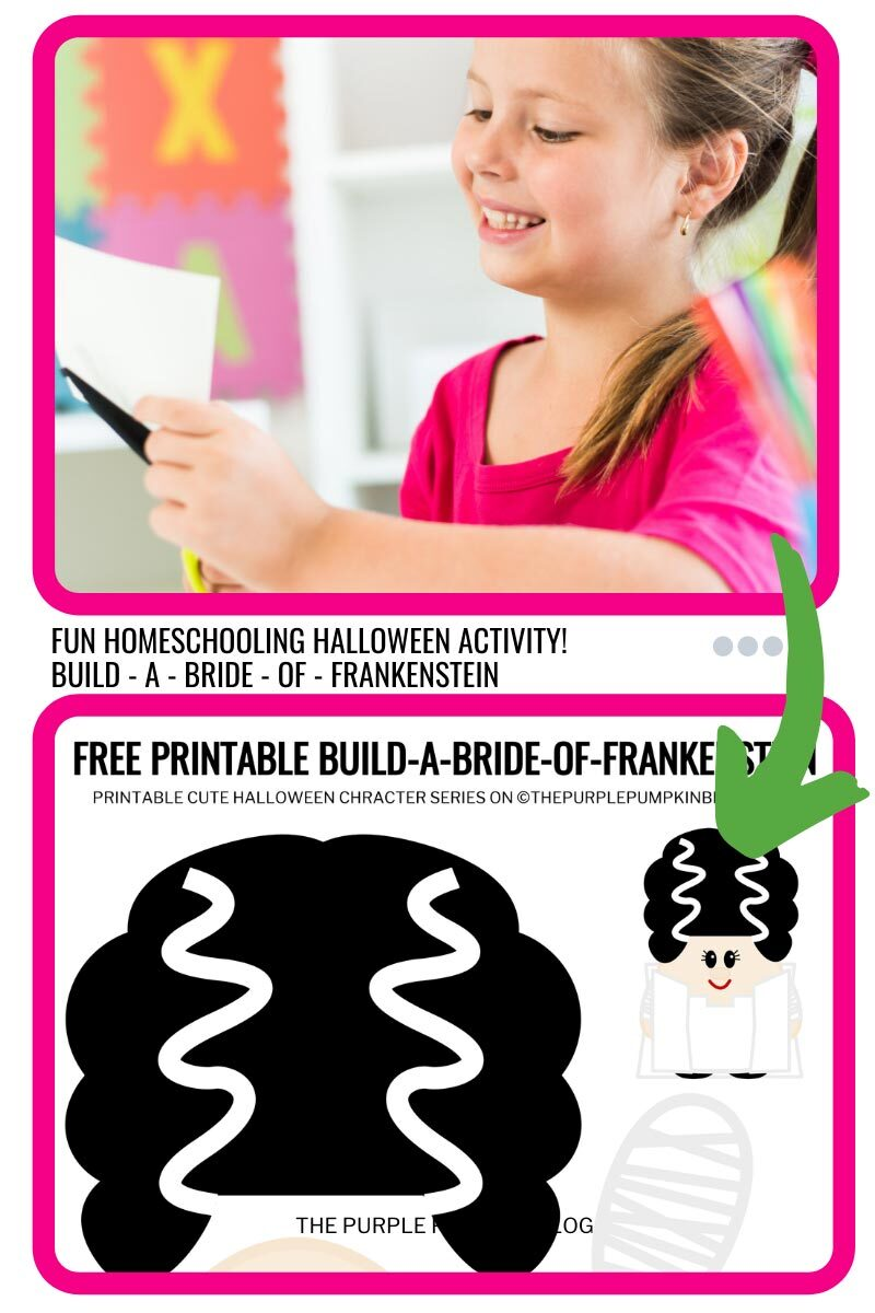 Fun Homeschooling Halloween Bride of Frankenstein Activity!