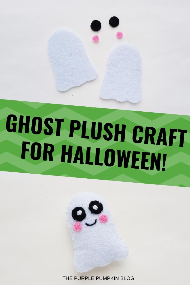 Ghost Plush Craft for Halloween