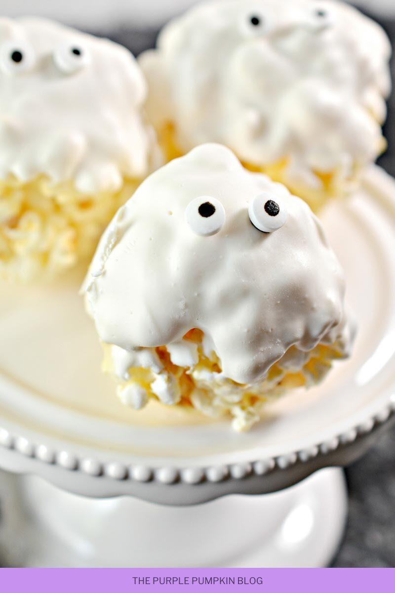 Ghostly Popcorn Balls