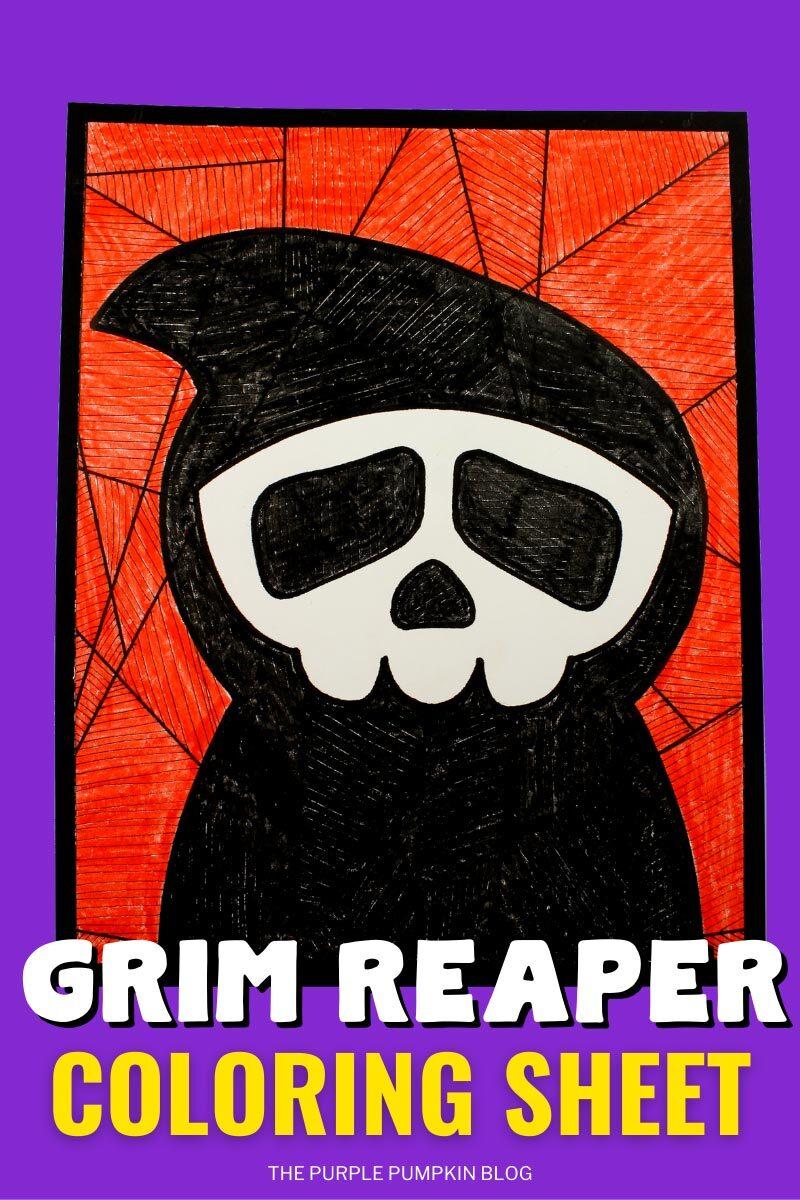 Grim Reaper Coloring Sheet
