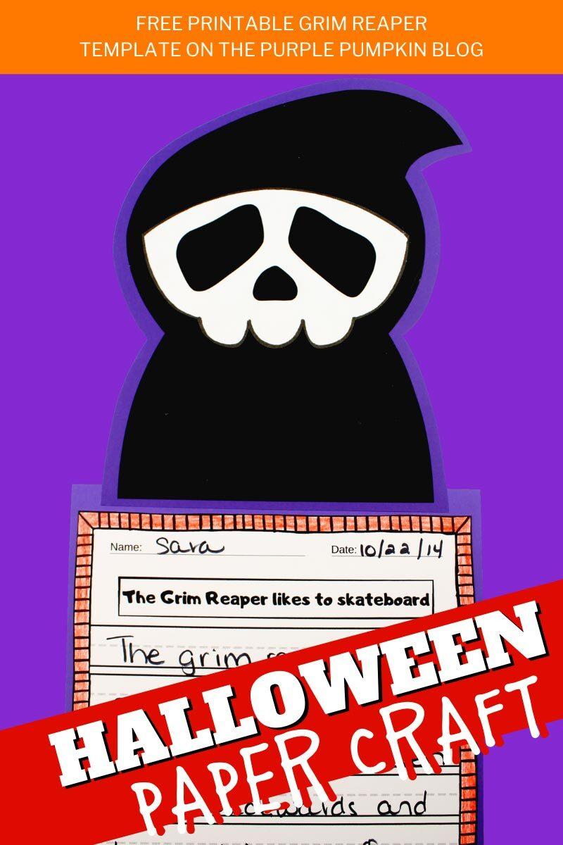 Grim Reaper Halloween Paper Craft