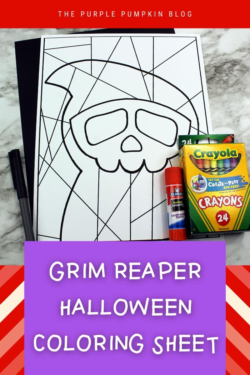 Grim Reaper Halloween Coloring Sheet