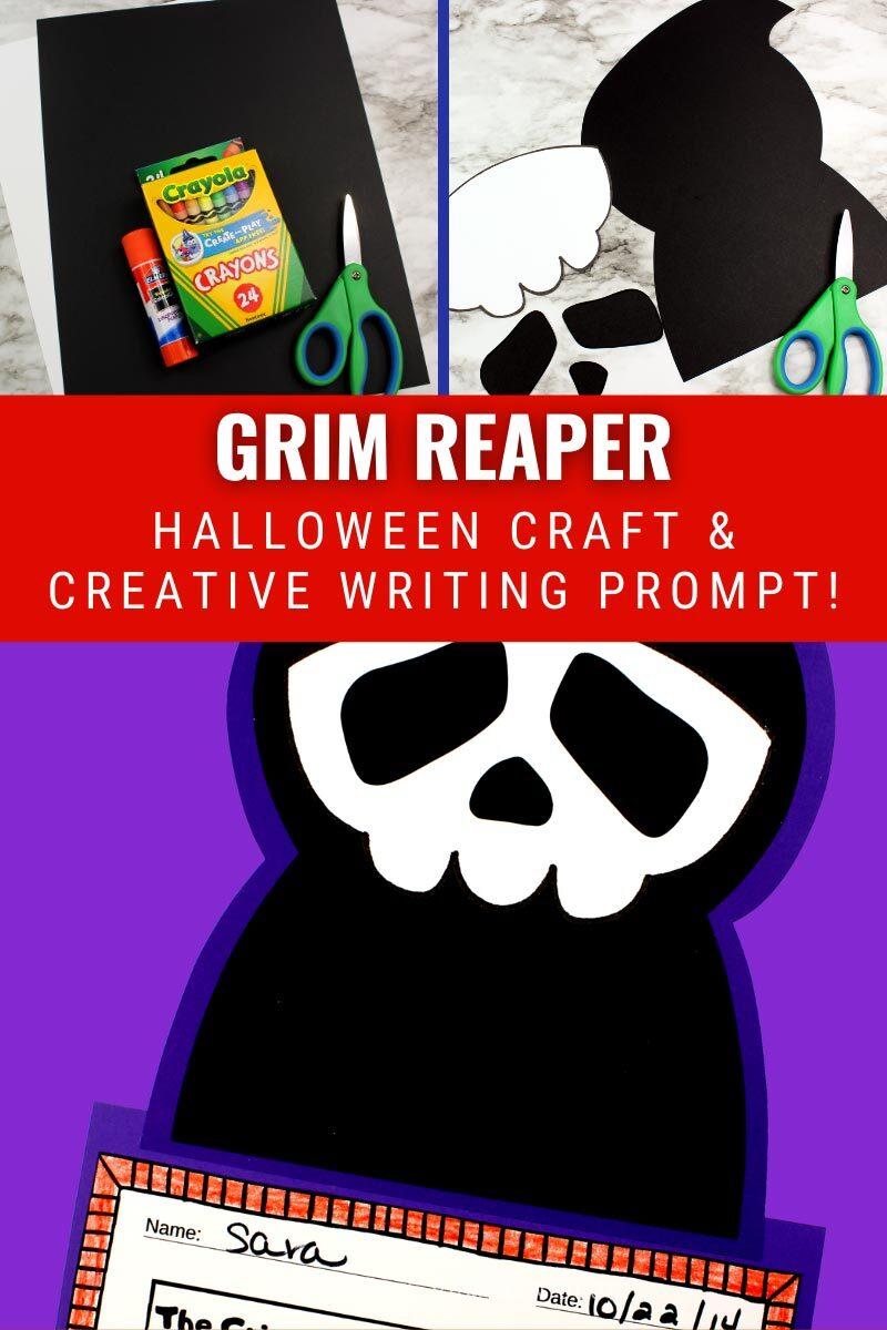 Grim Reaper Halloween Craft & Creative Writing Prompt