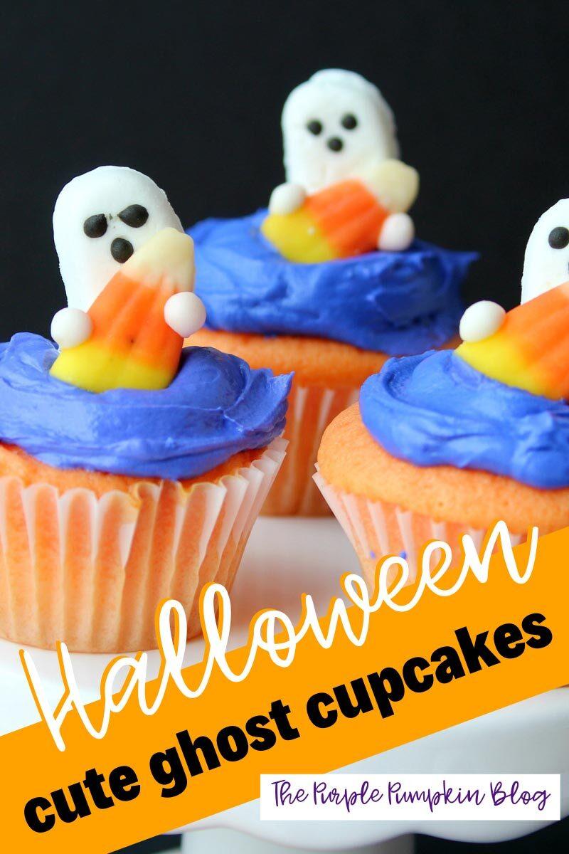Halloween Cute Ghost Cupcakes