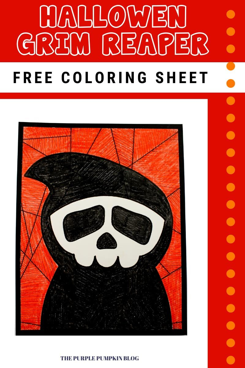 Halloween Grim Reaper Free Coloring Sheet