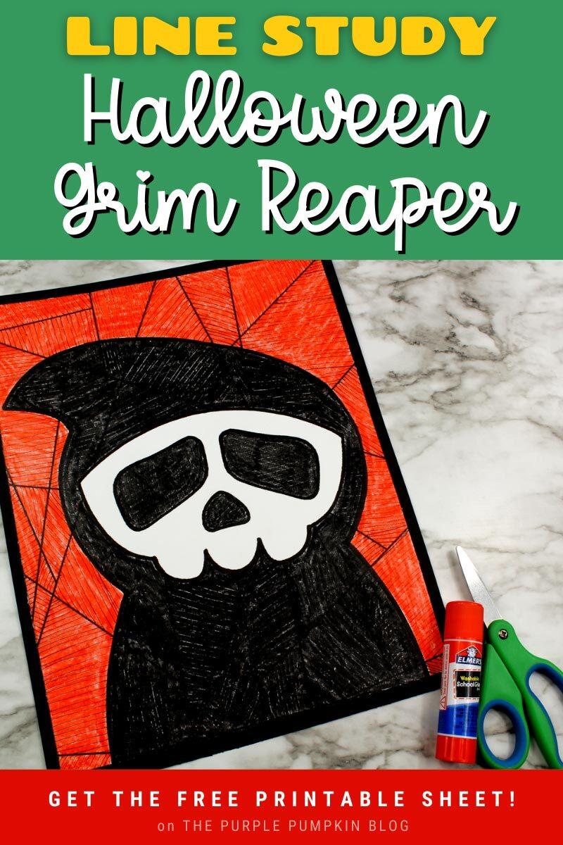 Halloween Grim Reaper Line Study