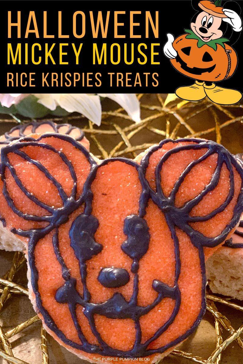 Halloween Mickey Mouse Rice Krispies Treats