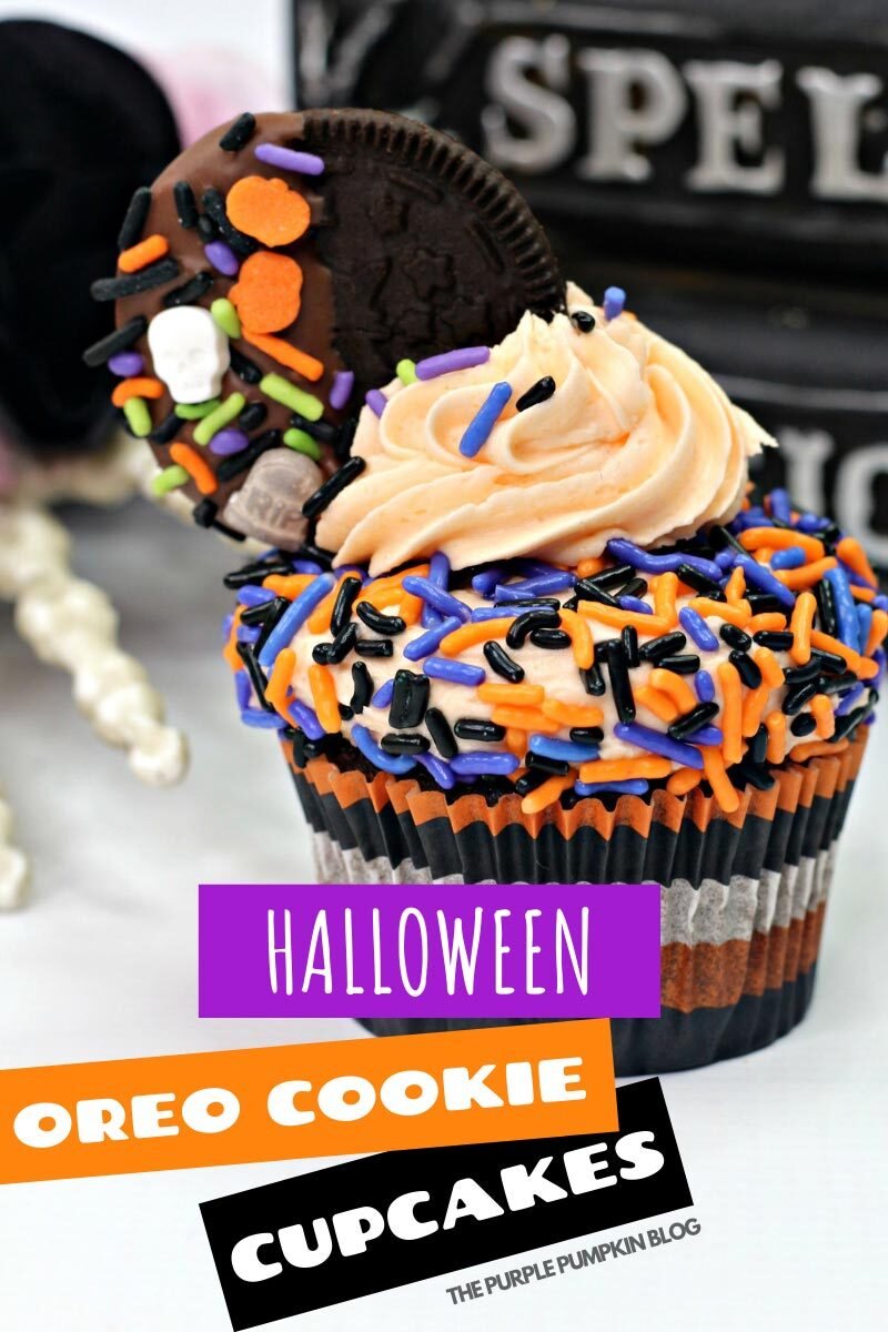 Halloween Oreo Cookie Cupcakes