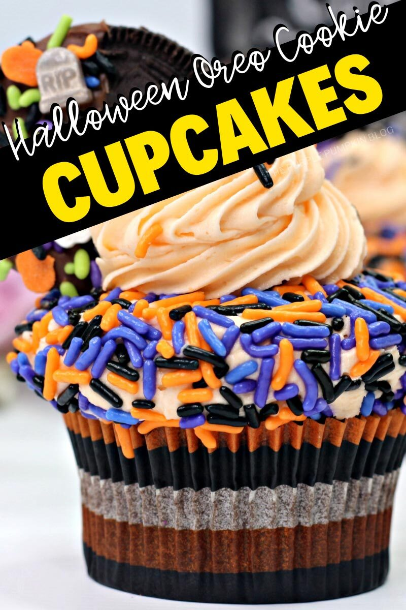 Halloween Oreo Cookie Cupcakes Recipe