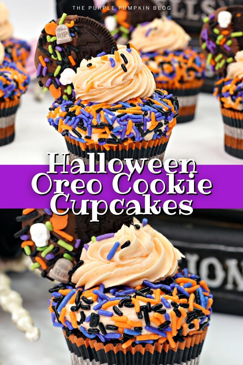 Halloween Oreo Cookies Cupcakes