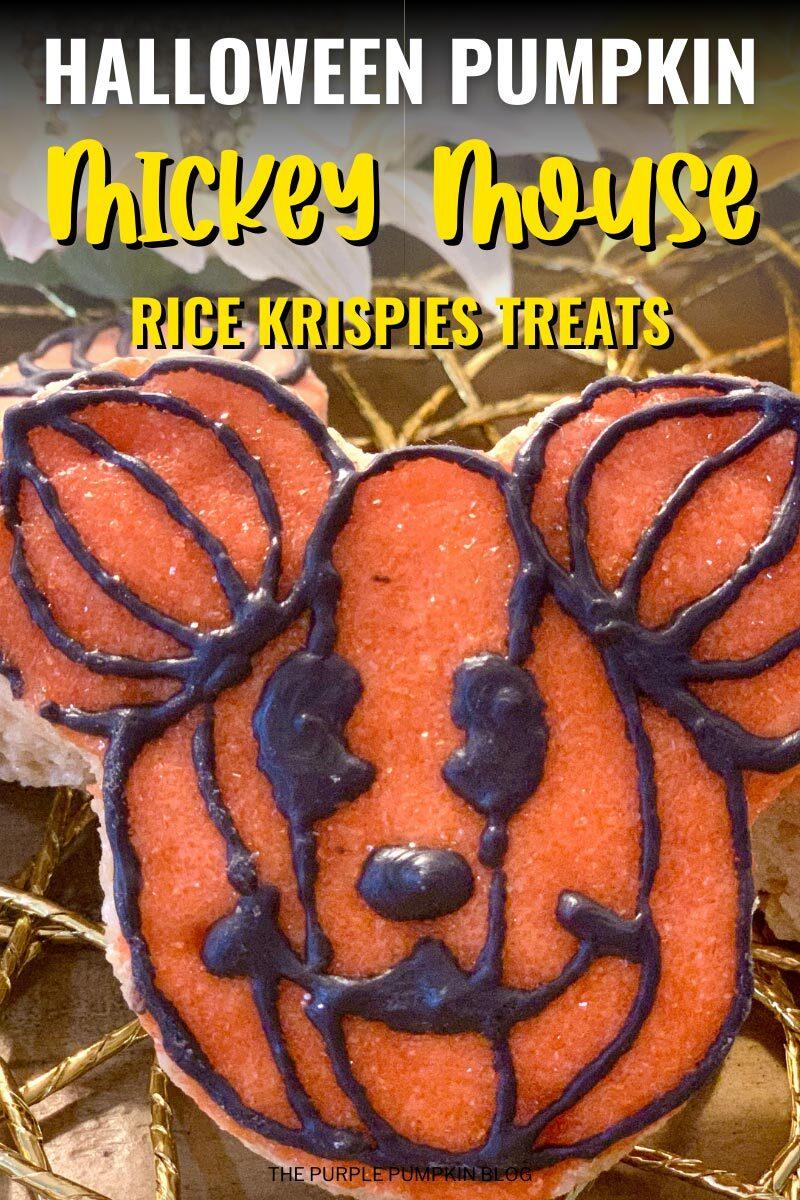 Halloween Pumpkin Mickey Mouse Rice Krispies Treats