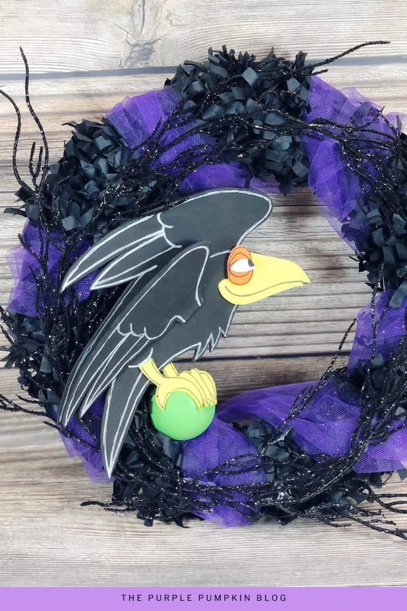 Halloween Raven Wreath Craft