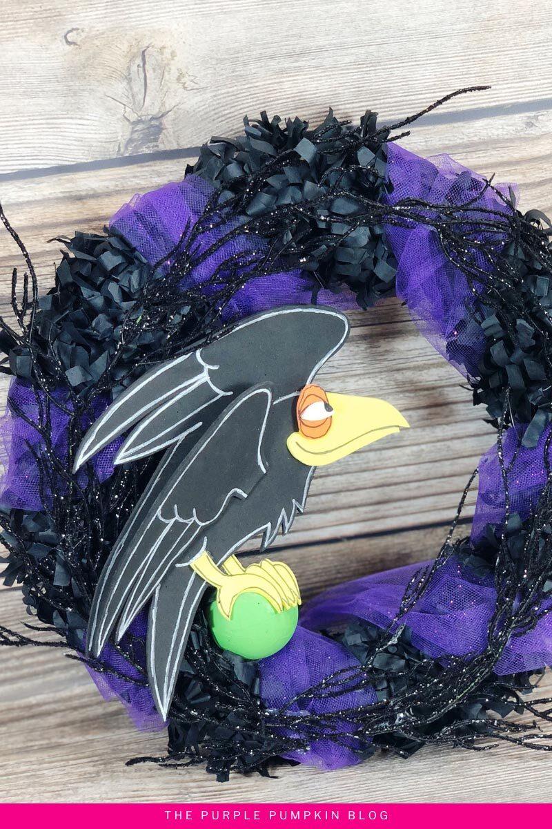Halloween Raven Wreath Disney Craft
