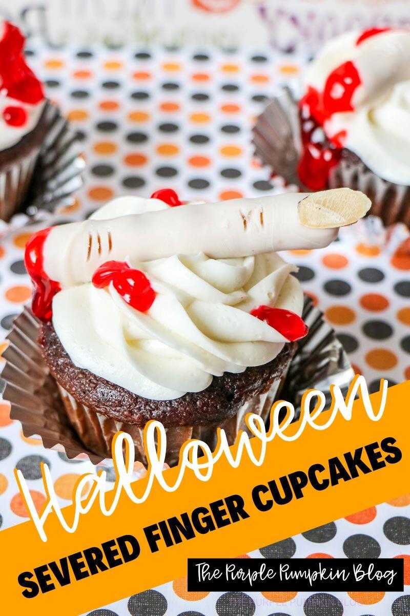 Halloween Severed Finger Cupcakes