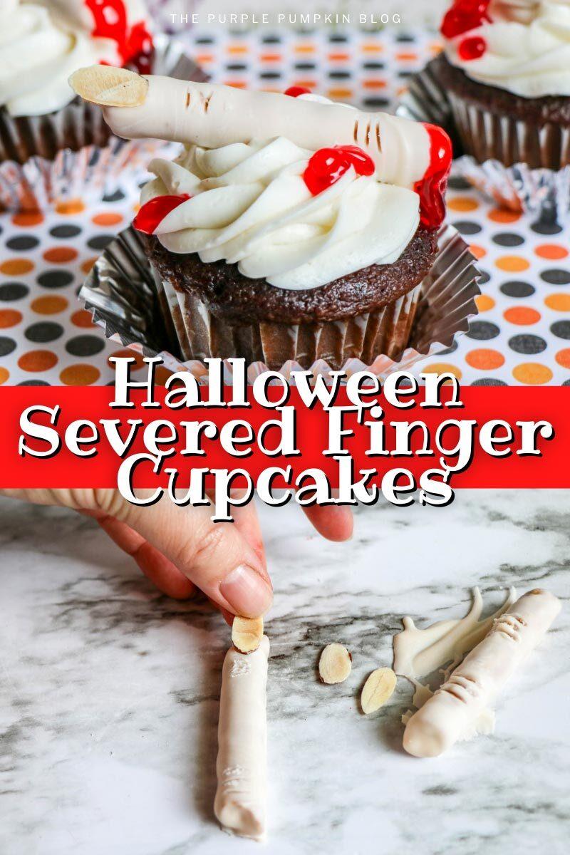Halloween Severed Finger Cupcakes Recipe