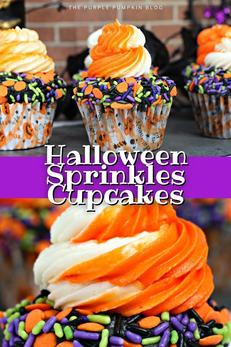 Halloween Sprinkles Cupcakes Recipe
