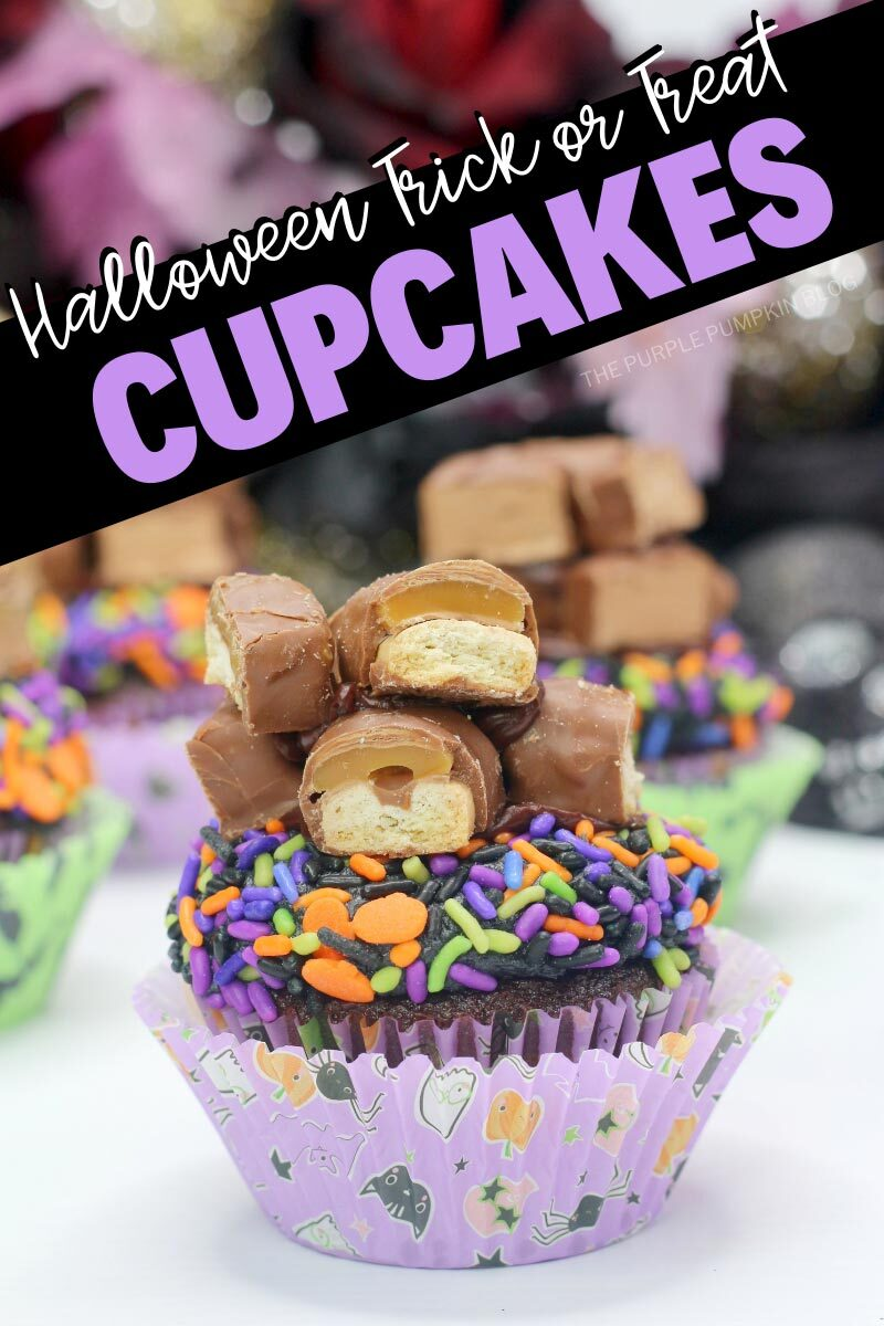 Halloween Trick or Treat Twix Cupcakes