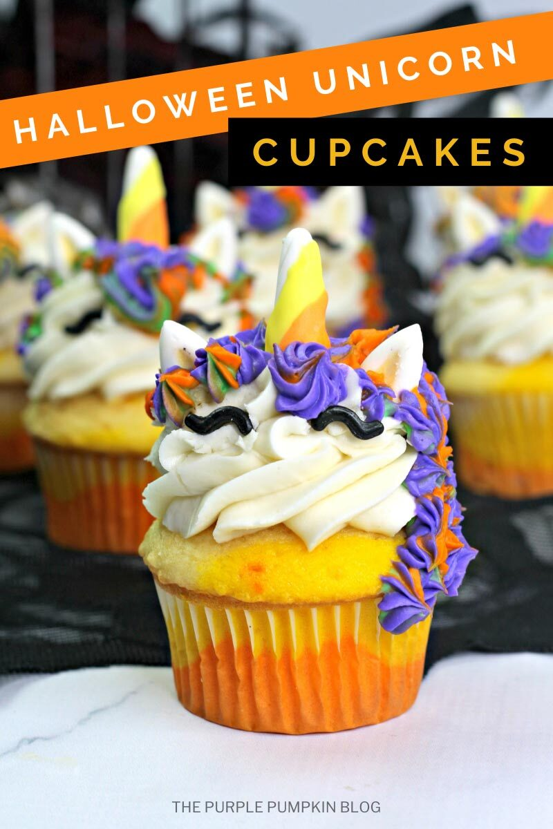 Halloween Unicorn Cupcakes