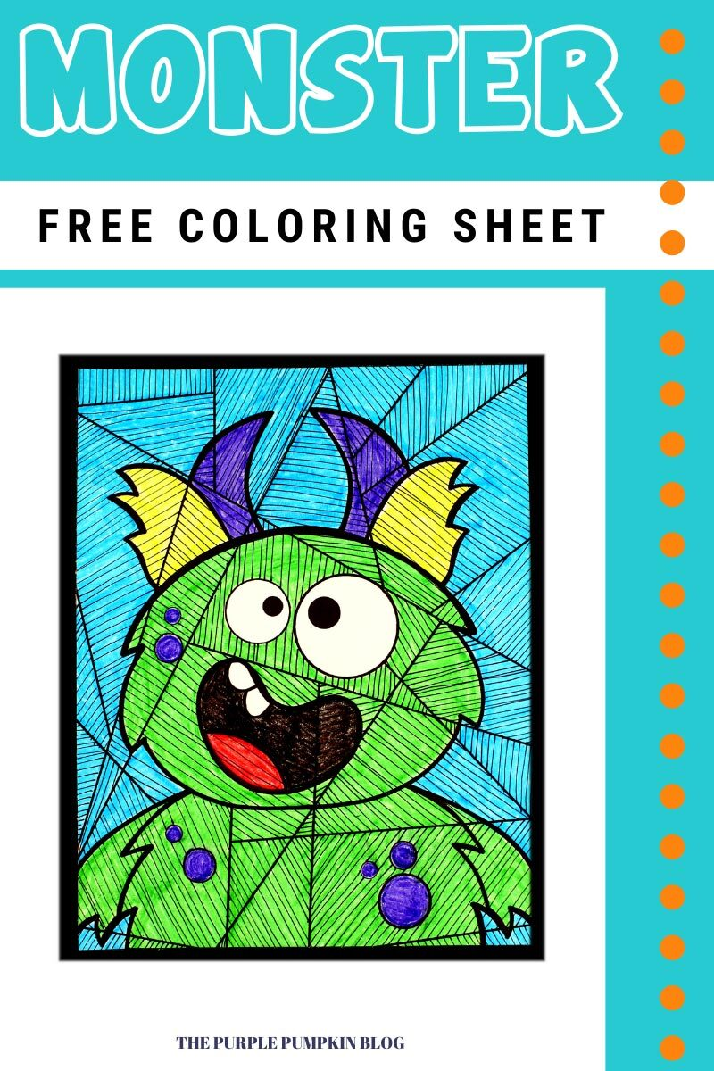 Horned Monster Free Coloring Sheet