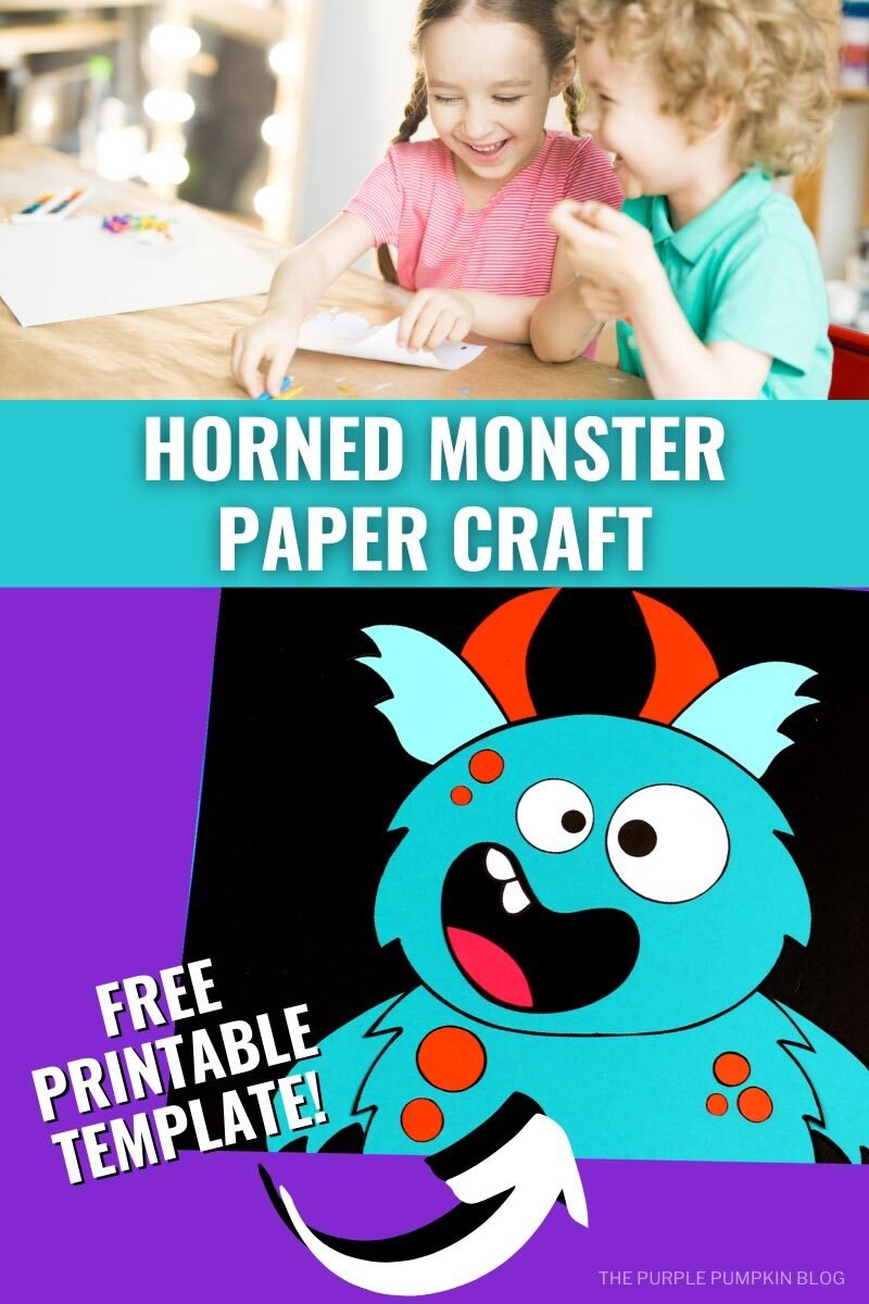 Horned Monster Paper Craft - Free Printable Template