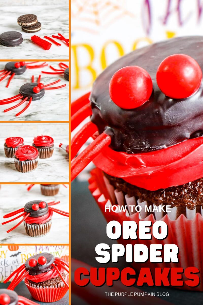 How to Make Oreo Spider Cupcakes
